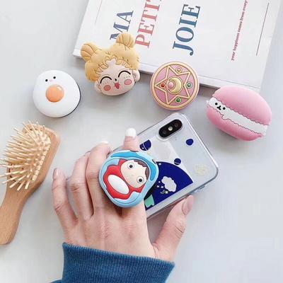 귀여운 캐릭터 스마트톡 핑거그립 핸드폰 휴대폰 거치대 이어폰줄감개 아이폰 갤럭시 악세사리