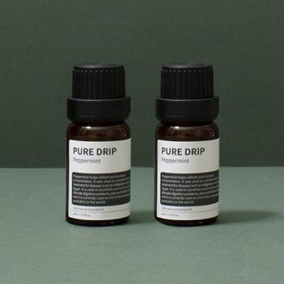 퓨어드립 아로마 내추럴 에센셜 오일 10ml 라벤더 유칼립투스 티트리/디퓨져 방향제 향기