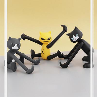 긴팔 고양이 피규어 인형 휴대폰 거치대 각도조절 스탠드 스마트폰 패드 태블릿 악세사리