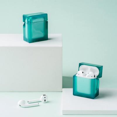 에어팟 1 2 3세대 프로 크리스탈 심플 투명 컬러 사각 실리콘 케이스 고리형/커플 추천