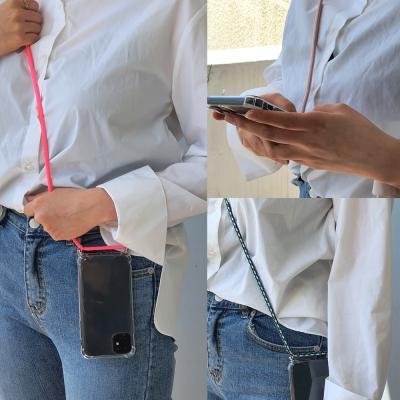 갤럭시A50 연예인 핸드폰줄 넥스트랩 크로스끈 여행용 도난분실방지 투명 젤리 휴대폰 케이스