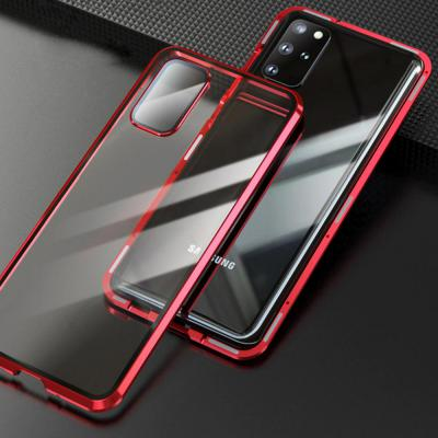 갤럭시S20 플러스 울트라 카메라렌즈보호 전면 풀커버 메탈 자석 투명 강화유리 하드 케이스
