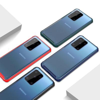 갤럭시s20 플러스 울트라 S10 S10E 노트10 슬림 스킨 컬러 라인 투명 하드 케이스
