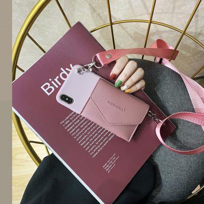 아이폰se2 11pro max xr xs 7 8플러스 목걸이 카드 수납 지갑 실리콘 케이스