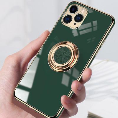 아이폰12 11 프로 맥스 XR XS SE2 8 7+ 카메라보호 글리터 실리콘 스마트링 케이스