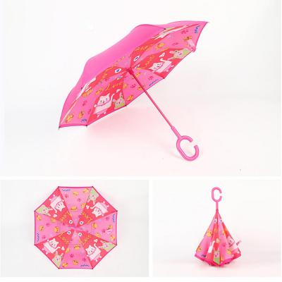 귀여운 캐릭터 C형 손잡이 거꾸로 접히는 아이디어 우산 양산 예쁜 장우산 튼튼한 양우산 남녀 학생 추천