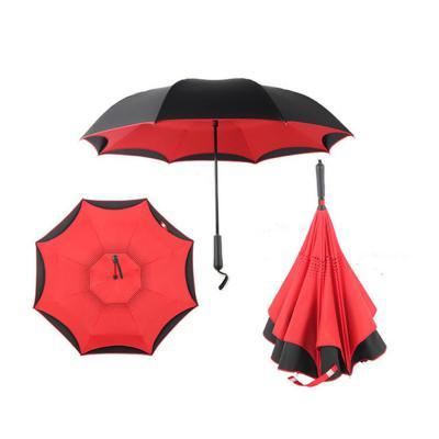 거꾸로 접이식 반자동 우산 투톤 4컬러 고급 패션 방풍우산 튼튼한 장우산 선물용 커플 장마