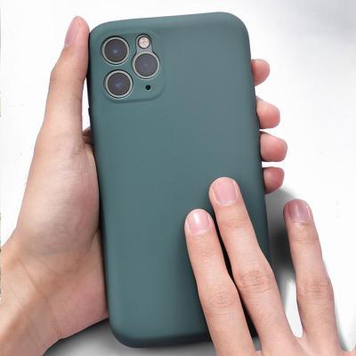 아이폰11 프로 맥스 pro max 카메라보호 심플 파스텔 컬러 스킨 무지 소프트 젤리 실리콘 휴대폰 케이스