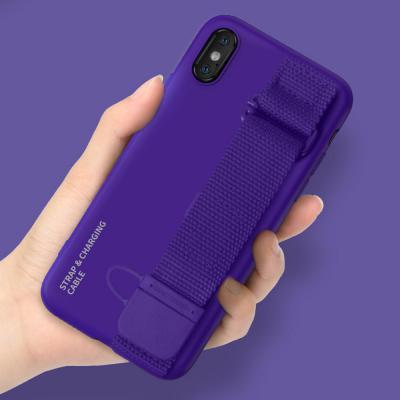 아이폰se2 11 프로 맥스 xr xs 8 7플러스 심플 충전 케이블 그립 핸드 스트랩 거치대 하드 휴대폰 케이스