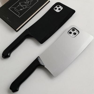 아이폰SE2 11 프로 맥스 XR XS MAX 8 7 플러스 특이한 입체 중식도 칼모양 실리콘 커플 휴대폰 케이스