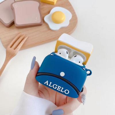 에어팟 1 2 3세대 프로 귀여운 미니 토스트기 실리콘 케이스 블루투스 무선 이어폰/커플추천/철가루스티커