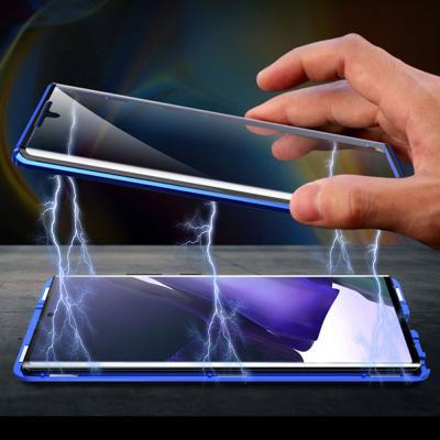 갤럭시노트20 노트20울트라 카메라 렌즈보호 전면 풀커버 메탈 마그네틱 투명 강화유리 하드 휴대폰 케이스