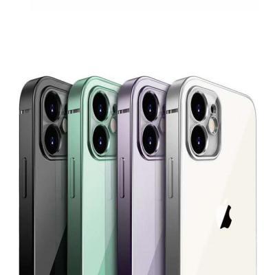 아이폰11 PRO MAX XR XS SE2 8 7플러스 카메라 렌즈보호 심플 컬러 라인 투명 클리어 젤리 휴대폰 케이스