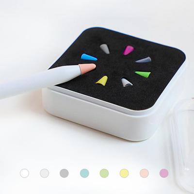 애플 펜슬 1세대 2세대 8색 컬러 팁 커버 펜촉 뚜겅 보호 캡 실리콘 케이스 아이패드 태블릿 악세사리