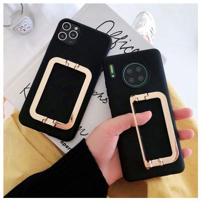 갤럭시노트20 울트라 노트10 플러스 노트9 S20 S10 S9 골드 사각 버클 스트랩 슬림 실리콘 휴대폰 케이스
