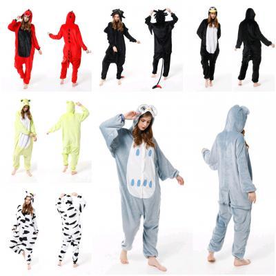 귀여운 공룡 유니콘 동물 캐릭터 파자마 인싸 겨울 극세사 기모 수면 잠옷/파티/이벤트/실내복/커플/홈웨어
