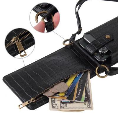 악어 패턴 가죽 아이폰 갤럭시 케이스 핸드폰 미니 가방 카드 수납 지갑 겸용 크로스 목걸이줄 스트랩