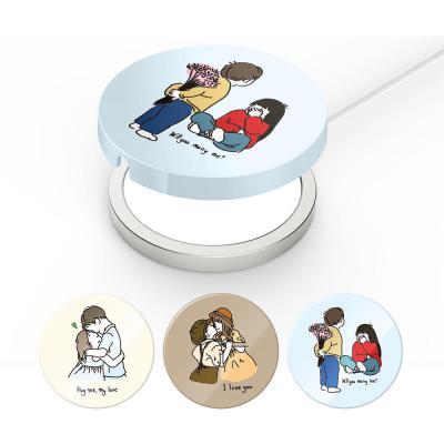 아이폰12 프로 맥스 미니/맥세이프 무선 충전기 패드 보호 커플 일러스트 하드 케이스 Magsafe 철가루방지