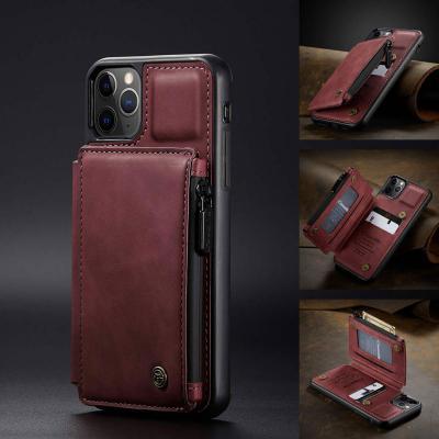 아이폰11 PRO MAX 가죽 카드 수납 지퍼형 지갑 스탠딩 거치대 실리콘 커플 특이한 휴대폰 케이스