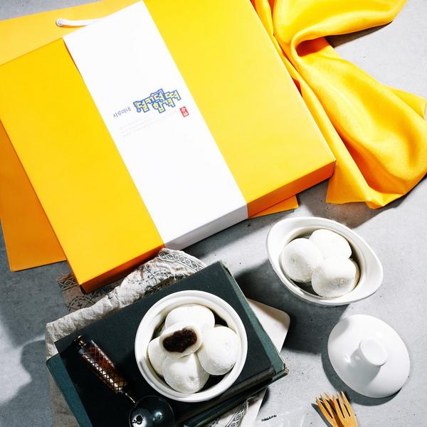 시루아네 덜커덕합격떡 개별포장 3호 (찹쌀떡 60gX40개, 보자기, 쇼핑백)