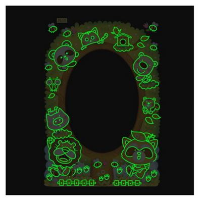 아이방 스티커 붙이는거울 동물나무 MR439