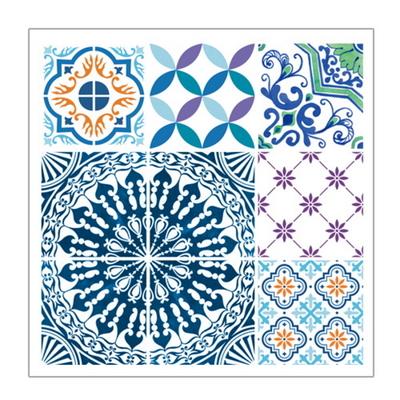 주방 리폼 스티커 모던TILE 6매 북유럽풍 블루 HP7001