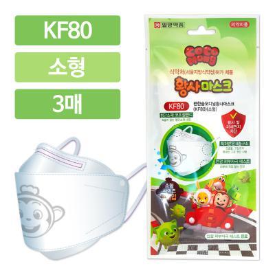코코몽 KF80 편한숨오디널 황사마스크 소형 3매 화이트