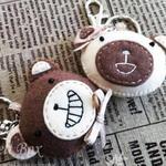 [반제품 DIY kit]밀크양 브라운군 커플 열쇠 고리