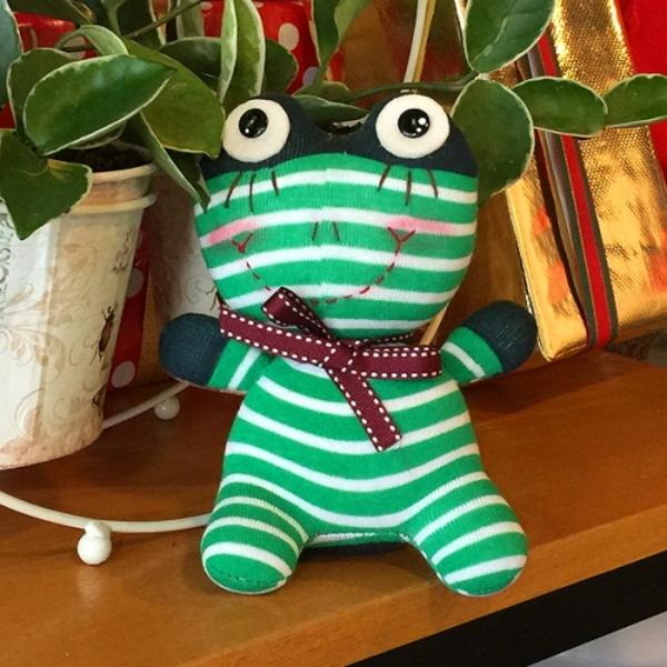 개구리 왕눈이 양말인형만들기