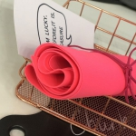 (기능성 고급원단)마스크전용 네오플랜원단 형광분홍