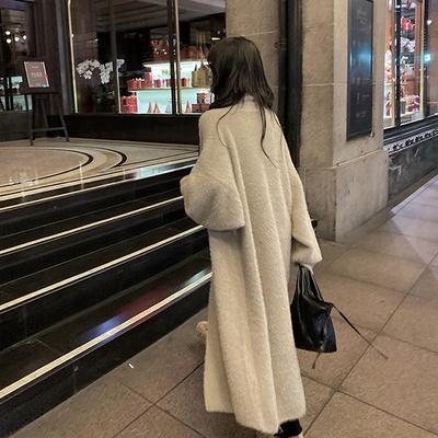 심플한 러블리 테디베어 페이크퍼 페미닌 코트
