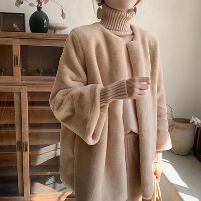 단아한 페이크퍼 양털 뽀글이 코트