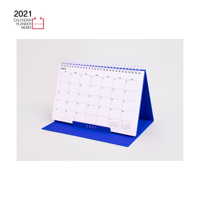 [루카랩]2021 플랜더-탁상용 캘린더 먼슬리 위클리 주간 스터디 스케줄 직장인 업무용 교무용 휴대용-핑크