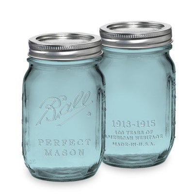 Ball Mason Jar(볼 메이슨자) Heritage(헤리티지) 블루 16oz 4p