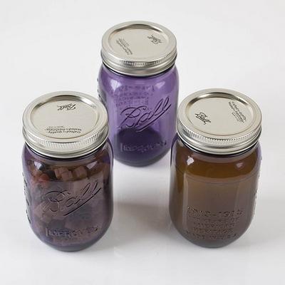 Ball Mason Jar(볼 메이슨자) Heritage(헤리티지) 퍼플 16oz 3p