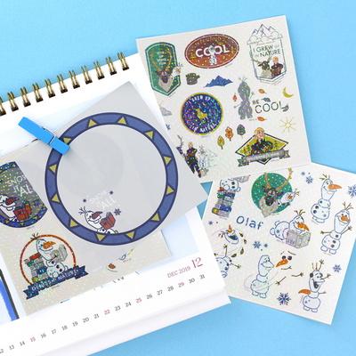 디즈니 겨울왕국 2_올라프 홀로그램 스티커