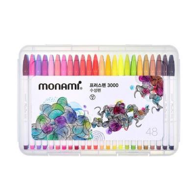 모나미 플러스펜 3000 48색 세트/수성펜/플러스펜