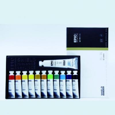 쉴드 에픽 아크릴물감 12색세트 20ml