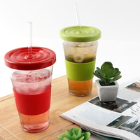 straw tumbler (red/blue/green)