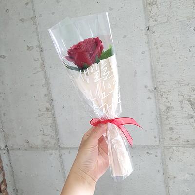 레터링꽃다발 빅로즈 장미 1송이 비누꽃다발 한송이