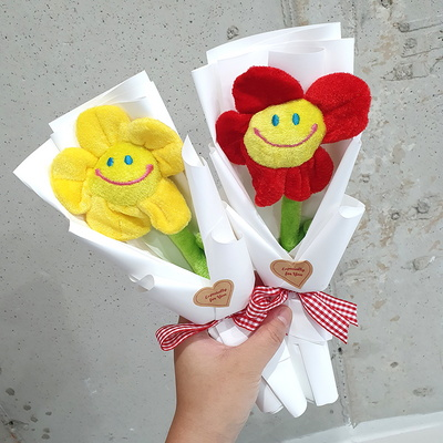 스마일꽃 1송이 프리미엄 8컬러 한송이꽃다발