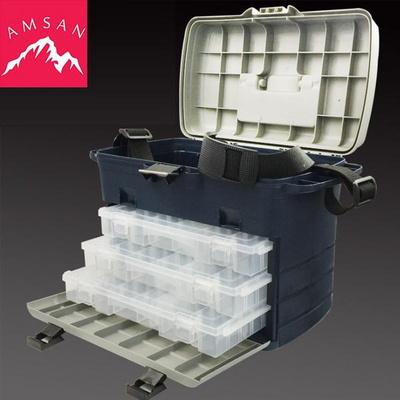이동형 3단 대형 하드커버 태클박스 보관함 가방