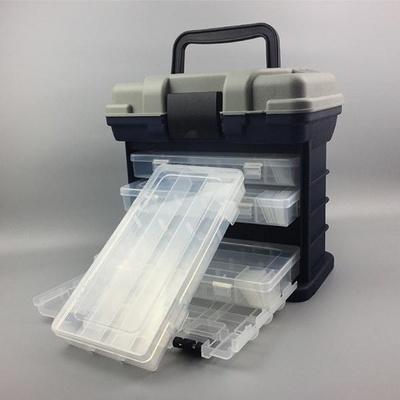 이동형 4단 하드커버 태클박스 보관함 가방