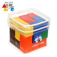 샘통 칼라 원목 소마큐브(PVC케이스)
