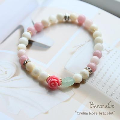 Cream Rose bracelet