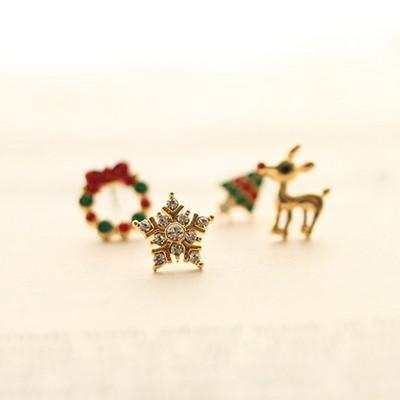 크리스마스 에디션 귀걸이(4p)