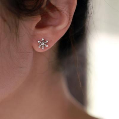 snow flower earring