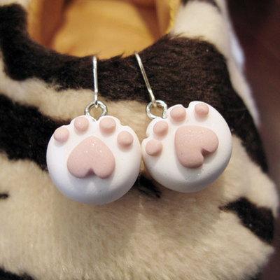 심플 고양이발바닥 귀걸이