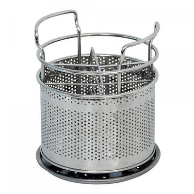 에스파스 타공 원형 스텐수저통 (대)