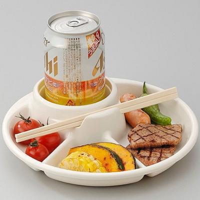 원형 나눔접시 캠핑 그릇